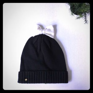 NEW Kate Spade colorblock bow beanie hat